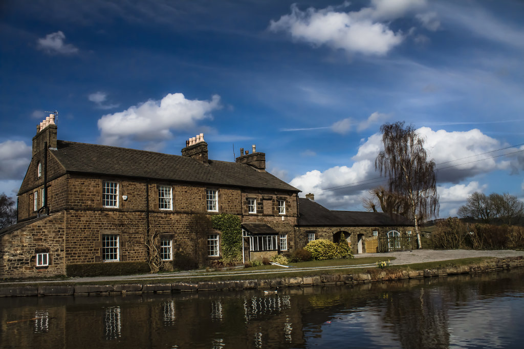 House on the canal towpath